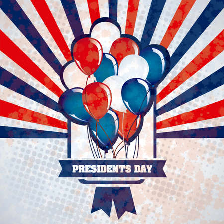 presidency: Poster illustration of Presidents Day in the United States of America, vector illustration