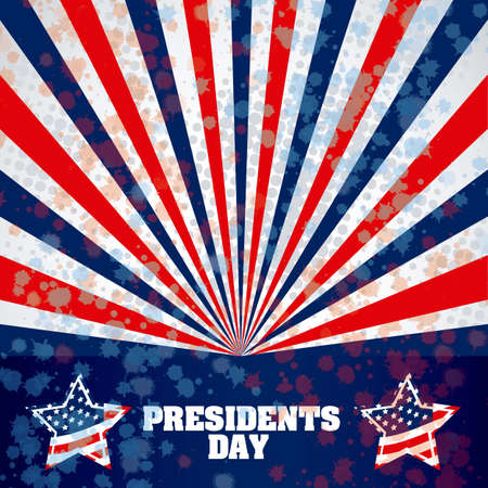 Poster illustration of Presidents Day in the United States of America, vector illustration Vector