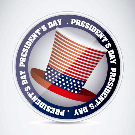Poster illustration of President's Day in the United States of America, vector illustration Stock Vector - 17352857