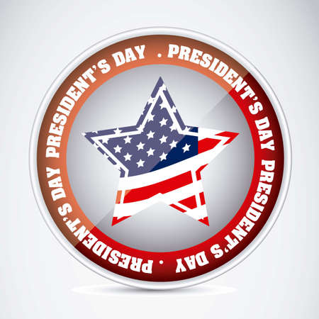 Poster illustration of President's Day in the United States of America, vector illustration Stock Vector - 17352957