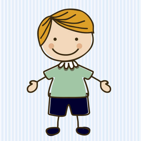 Illustration of boy, in cartoon style and sketch, vector illustration Stock Vector - 17431741