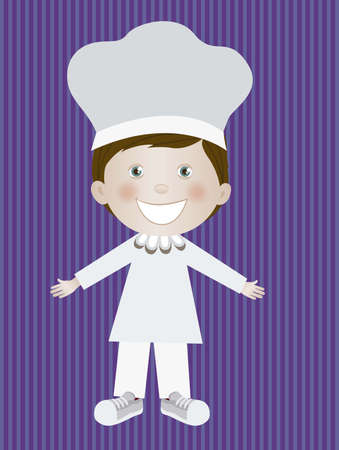 Illustration of chef man, in cartoon style and sketch, vector illustration Vector