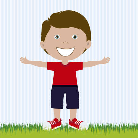Illustration of boy, in cartoon style and sketch, vector illustration Stock Vector - 17432047