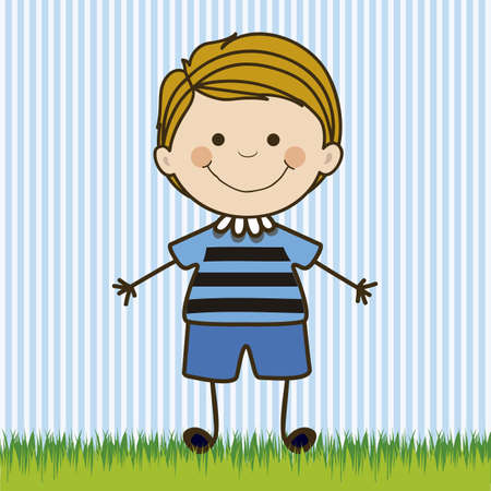 Illustration of boy, in cartoon style and sketch, vector illustration Stock Vector - 17431906