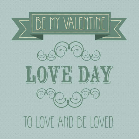dedicate: Poster illustration of the day of love and friendship, vector illustration