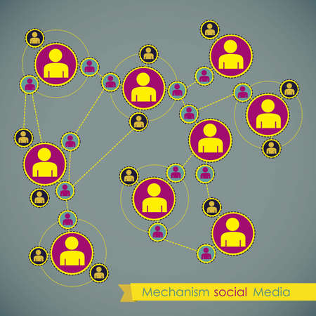 illustration of Social Media Infographic, with social networks infographic, vector illustration Stock Vector - 17432623