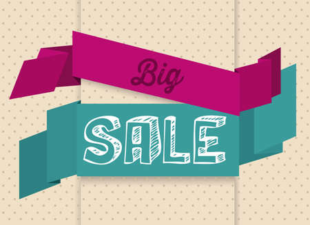 Illustration of  Big Sale label, in bright colors, vector illustration Stock Vector - 17614685