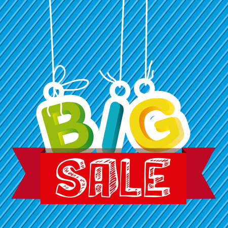 wholesale: Illustration of  Big Sale label, in bright colors, vector illustration