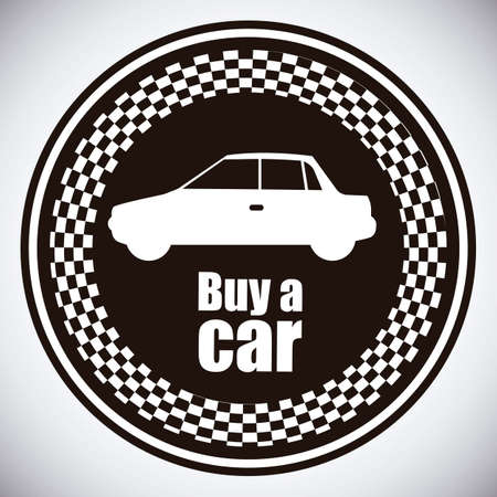 Illustration of buy a car label, car sale,  vector illustration Stock Vector - 17614547