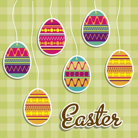 honeysuckle: Illustration of the celebration of Easter, vector illustration Illustration