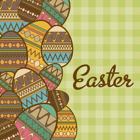 Illustration of the celebration of Easter, vector illustration Vector
