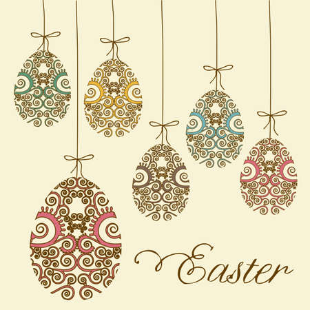 Illustration of the celebration of Easter, vector illustration Vector