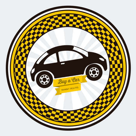 Illustration of buy a car label, car sale,  vector illustration Stock Vector - 17614542