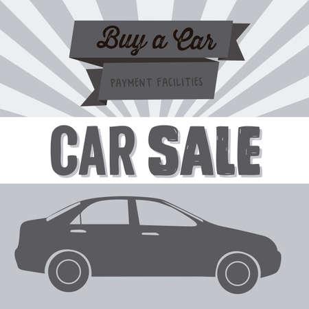 Illustration of buy a car label, car sale, vector illustration