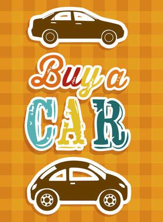 Illustration of buy a car label, car sale,  vector illustration Stock Vector - 17614505