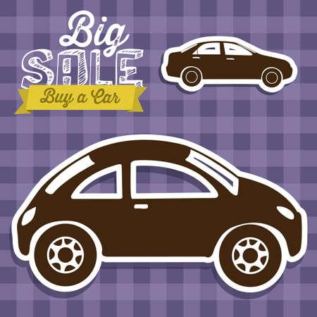 Illustration du label Big Sale, Acheter une illustration de vecteur voiture,