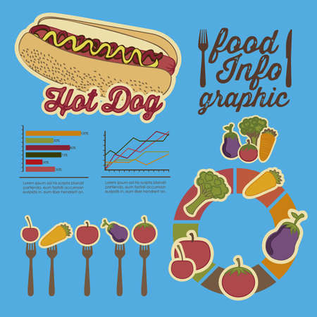 Illustration of food infographics, with food icons Stock Vector - 17733911