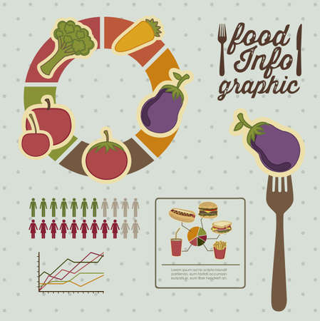 Illustration of food infographics, with food icons Stock Vector - 17733903