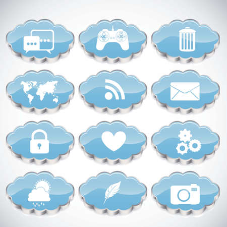 Illustration of icons of tablet apps, apps market Stock Vector - 17733763