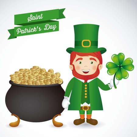illustration of Saint Patrick's Day, celebration of holiday Stock Vector - 17733926