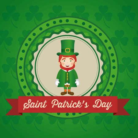 illustration of Saint Patricks Day, celebration of holiday Vector