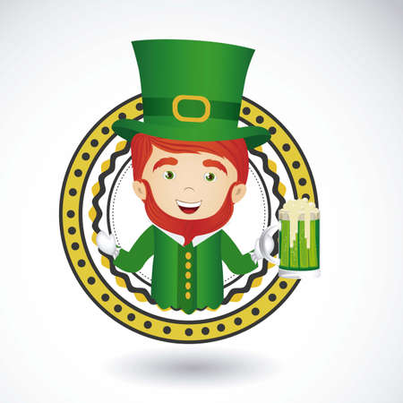 illustration of Saint Patricks Day, celebration of holiday Vector