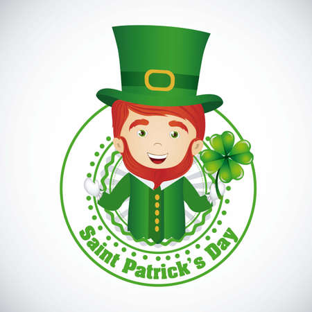 illustration of Saint Patrick's Day, celebration of holiday Vector