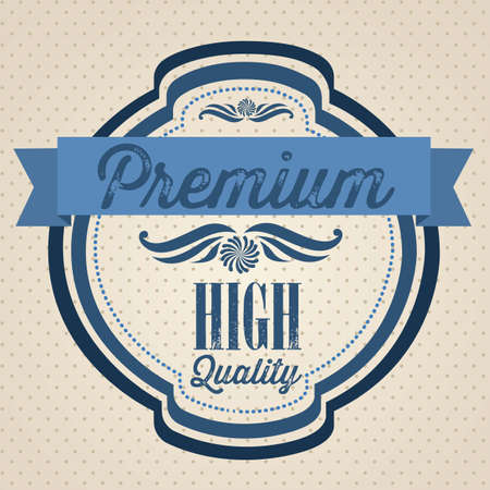 illustration of retro vintage label, Premium Labels Stock Vector - 17733904