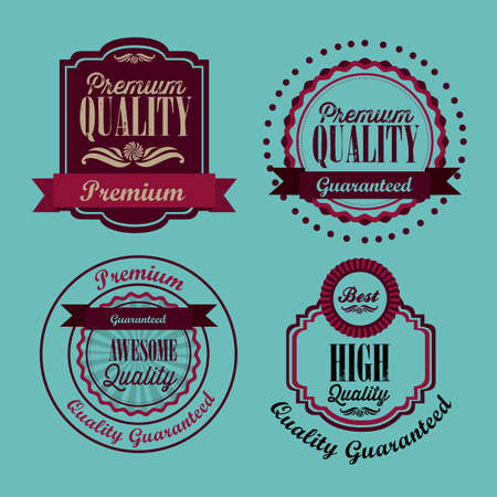 illustration of retro vintage label, Premium Labels Stock Vector - 17733850