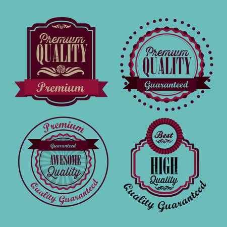 illustration of retro vintage label, Premium Labels Stock Vector - 17733850
