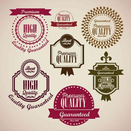 illustration of retro vintage label, Premium Labels Stock Vector - 17733870