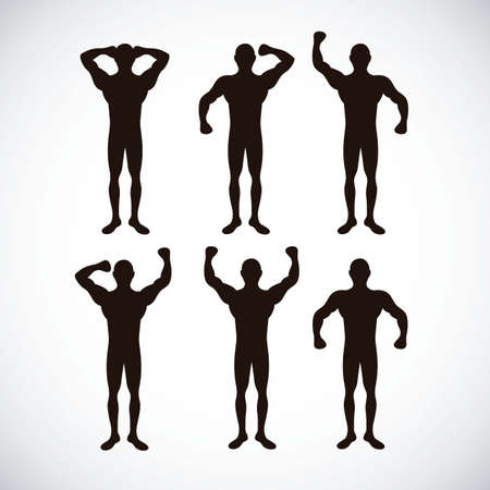 Illustration of Fitness Icons, sports and exercise, caring figure and health, vector illustration Stock Vector - 17786754