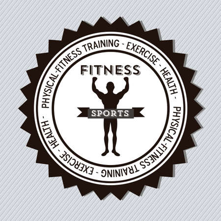 Illustration of Fitness Icons, sports and exercise, caring figure and health, vector illustration Vector