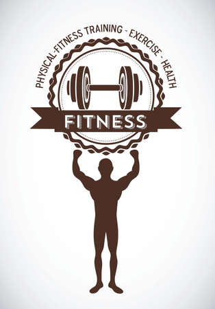 Illustration of Fitness Icons, sports and exercise, caring figure and health, vector illustration Stock Vector - 17786755