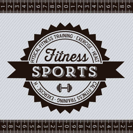 Illustration of Fitness Icons, sports and exercise, caring figure and health, vector illustration Stock Vector - 17786801