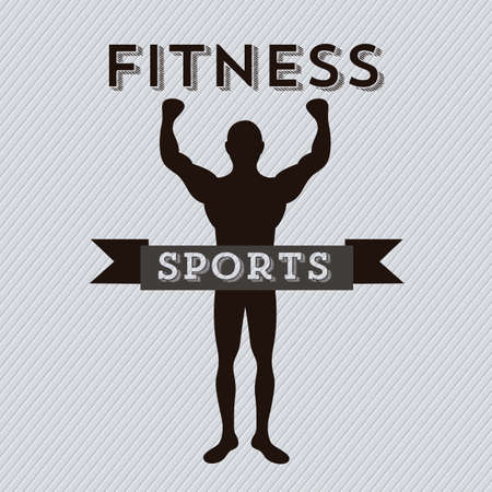 Illustration of Fitness Icons, sports and exercise, caring figure and health, vector illustration Stock Vector - 17786812