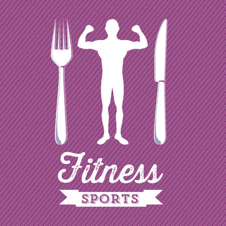 Illustration of Fitness Icons, sports and exercise, caring figure and health, vector illustration Stock Vector - 17786962