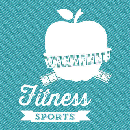 Illustration of Fitness Icons, sports and exercise, caring figure and health, vector illustration Stock Vector - 17787100