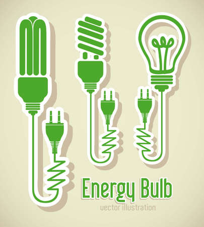 Illustration Of Energy Icons, Electricity And Electric Current ...