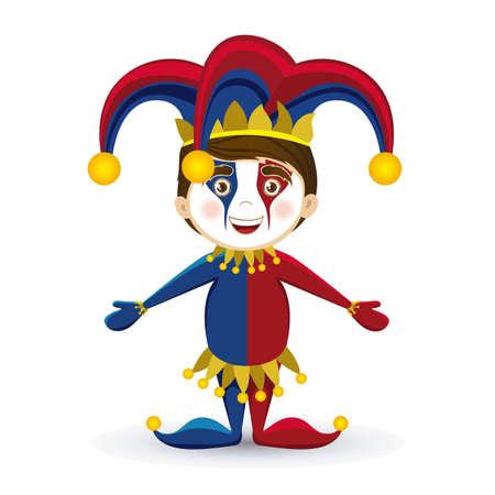 Ilustración de un ejemplo del vector joker, Día de los Inocentes, ilustración bufón, Ilustración de vector