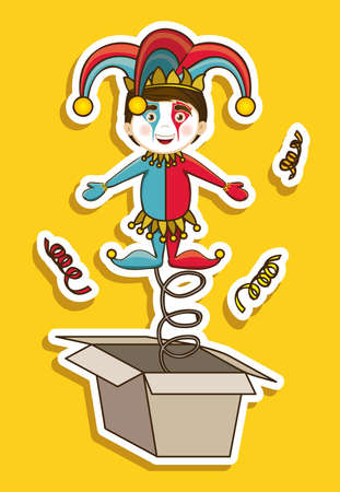 idiot box: Illustration of a joker, April Fools Day, jester illustration,  vector illustration