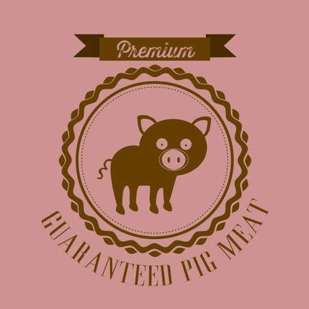 Illustration of Farm Label. Farm Animals Icons. vector illustration Stock Vector - 17888782