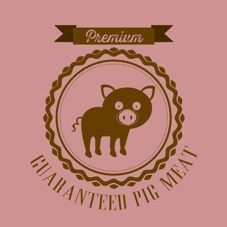 Illustration of Farm Label. Farm Animals Icons. vector illustration Stock Vector - 17888782