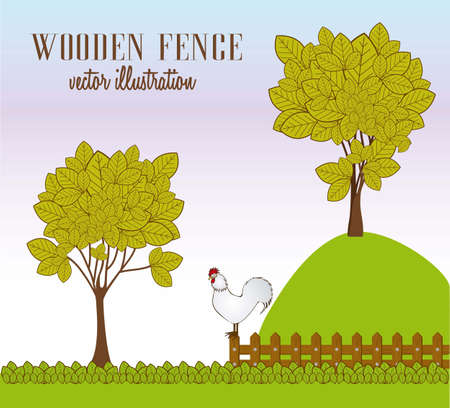 Illustration of Farm fowl. Farm  Icons. vector illustration Vector