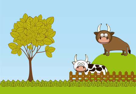 Illustration of Cute Animals. Farm Animals Icons. vector illustration Stock Vector - 17888935