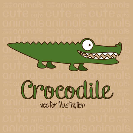 crocodile: Illustration von Cute Animals. Krokodil Illustration. Vektor-Illustration