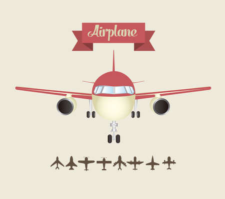 avion: Illustration of airplane icons. Silhouettes of airplanes. vector illustration Illustration