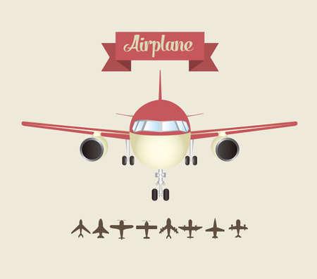 aero: Illustration of airplane icons. Silhouettes of airplanes. vector illustration Illustration