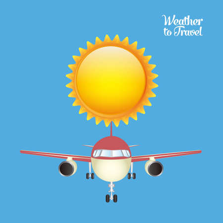 Illustration of airplane icons. Weather for flying. vector illustration Stock Vector - 17888752