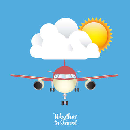 Illustration of airplane icons. Weather for flying. vector illustration Stock Vector - 17888740